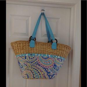 Vera Bradley large straw purse